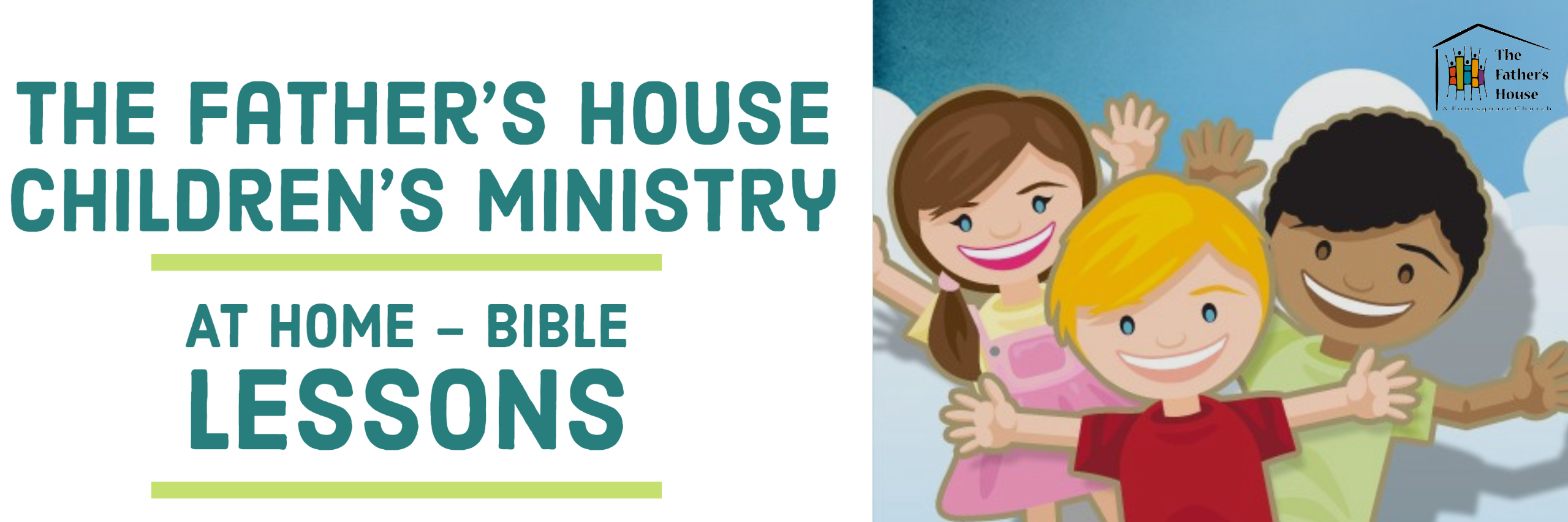 Children's Ministry At Home Lessons Banner
